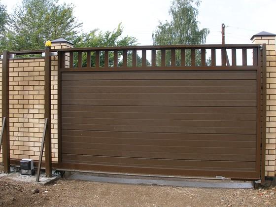 Ворота для дачи распашные с калиткой цена в Дубне