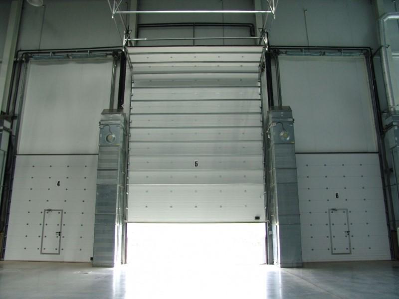 Ворота в автосервис вертикальные размеры цена